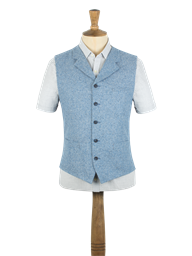 Gibson Pale Blue Donegal Tweed Waistcoat