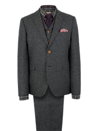 Gibson Charcoal Donegal Tweed Jacket