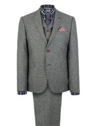 Suit Jacket Gibson Silver Grey Donegal Tweed Jacket
