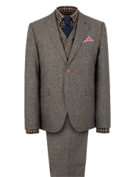 Gibson Taupe Donegal Tweed Jacket