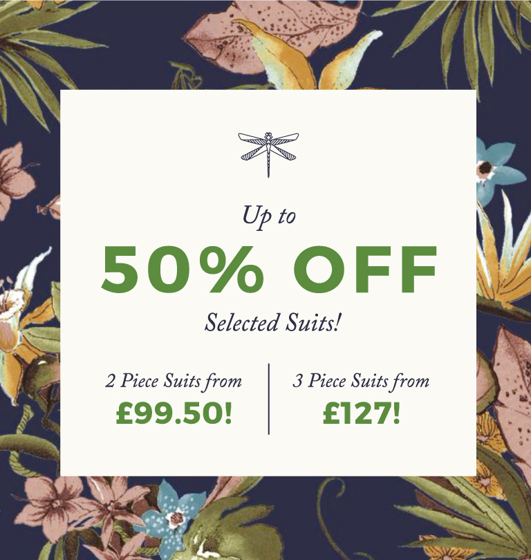 Up To 50% Off Selected Suits