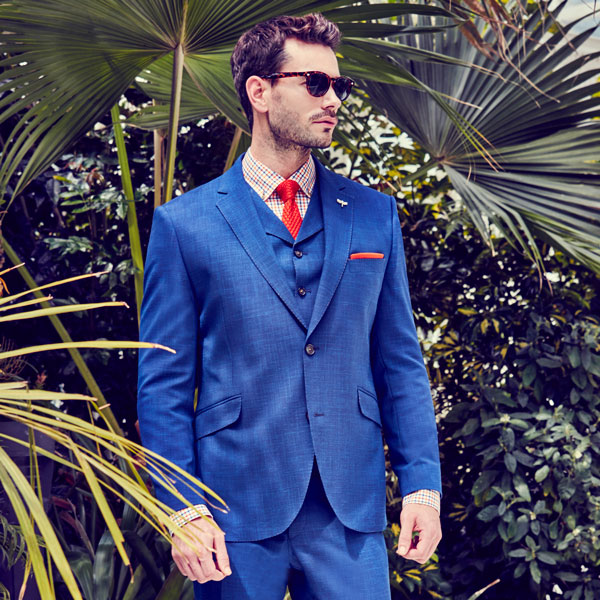 Cobalt Blue Wool Blend Suit