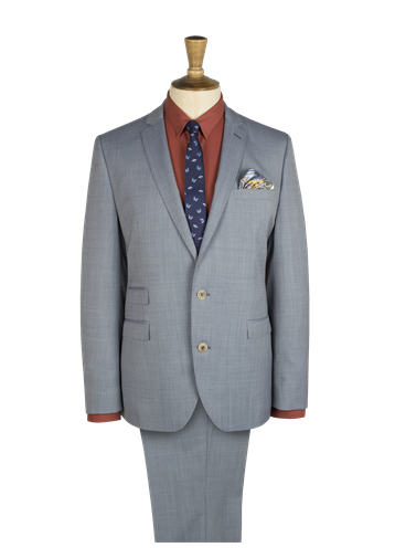 Gibson Pale Blue Semi Plain Suit