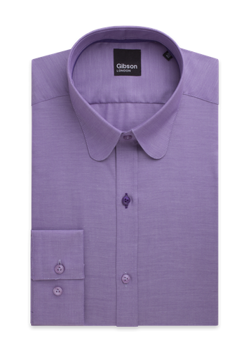 Gibson Lilac Shirt With Penny Round Collar
