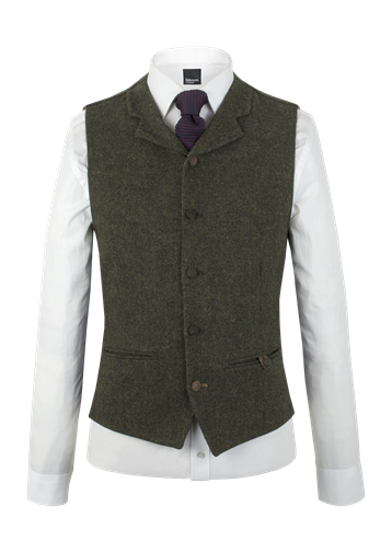 Gibson Green Donegal Waistcoat
