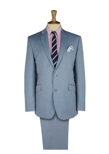 Gibson Pale Blue Two Tone Two Piece Suit