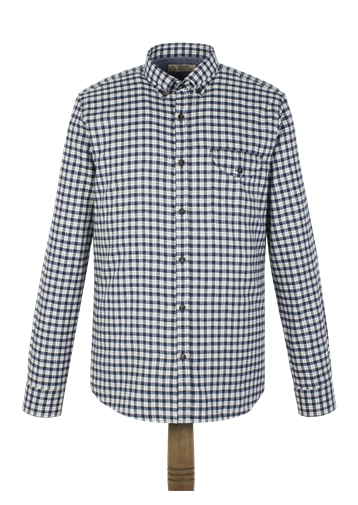 Gibson Blue Flannel Check Shirt