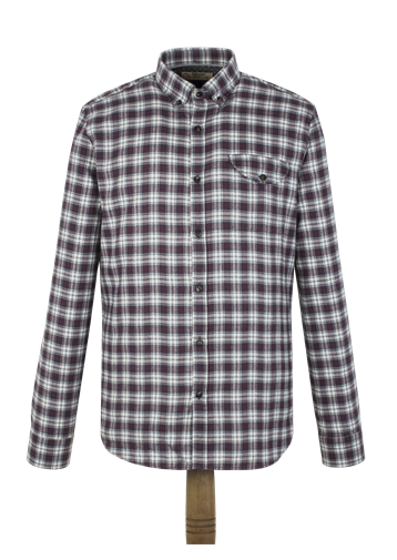 Gibson Berry Check Flannel Shirt