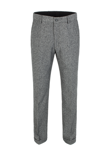 Gibson Grey Donegal Plain Front Trouser