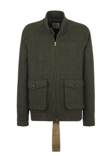 Gibson Green Check Harrington Jacket