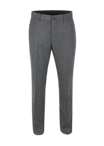 Gibson Charcoal Herringbone Plain Fronted Trouser