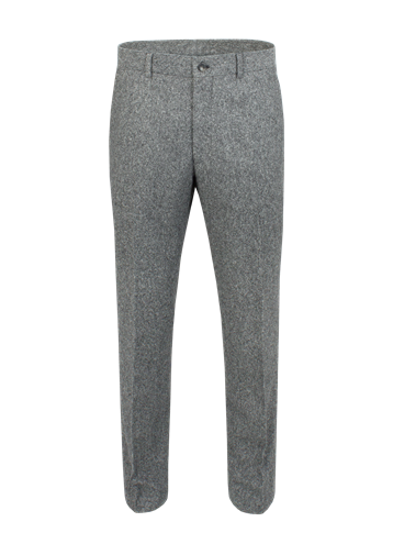 Gibson Grey Donegal Plain Front Trousers