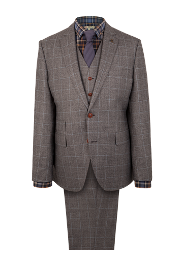 Gibson Grey Flannel Check Suit Jacket