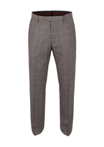 Gibson Grey Flannel Check Suit Trousers