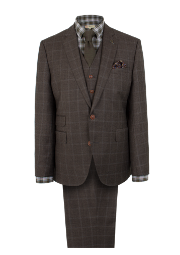 Gibson Brown Check Suit Jacket