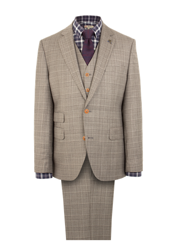 Gibson Taupe Pick N Pick Suit Jacket