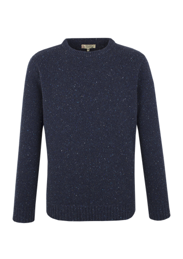 Gibson CREW NECK SWEATER WITH DONEGAL FLECK