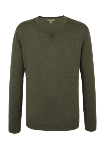 Gibson MERINO WOOL V NECK SWEATER