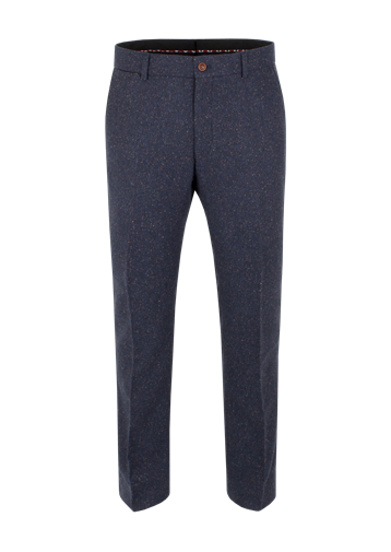 Gibson Navy Herringbone Donegal Trousers
