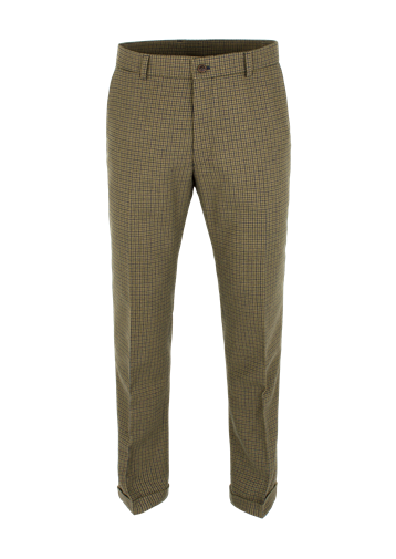 Gibson Sage Dogtooth Check Trouser