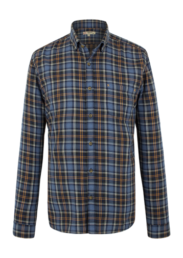 Gibson NAVY AND GOLD CHECK SHIRT