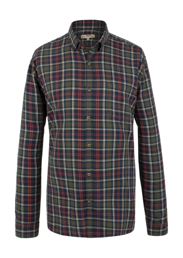 Gibson GREEN AND ORANGE CHECK SHIRT