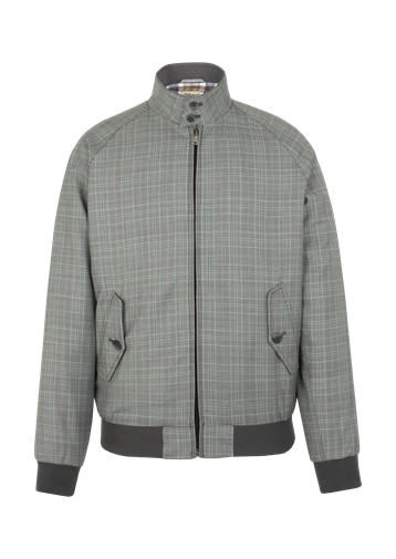 Gibson Grey Check Harrington Jacket