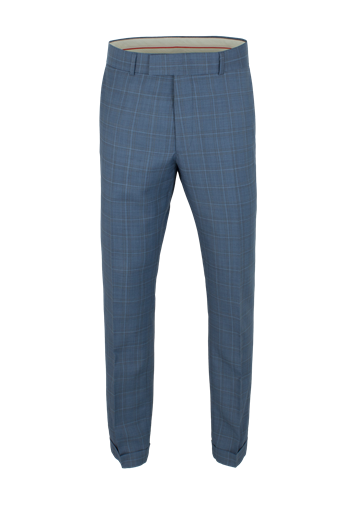 Gibson Pale Blue Check Suit Trousers