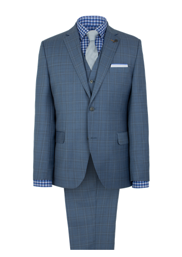 Gibson Pale Blue Check Jacket