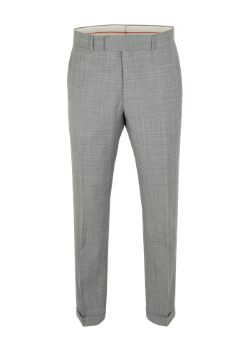 Gibson Taupe Check Suit Trousers