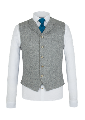 Gibson Grey Donegal Waistcoat