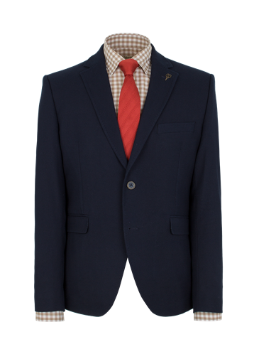 Gibson Navy Textured Slim Fit Jacket