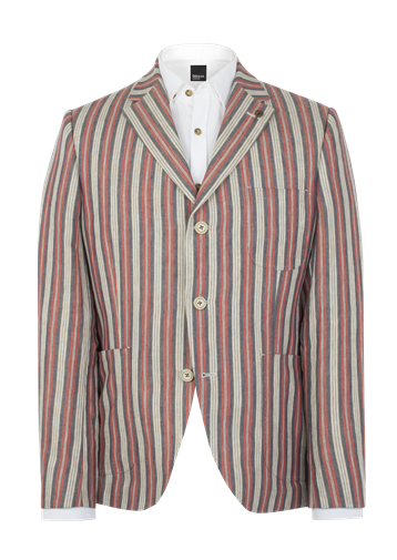 Gibson Ecru Multi Stripe Jacket