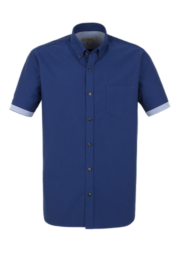 Gibson Cobalt Blue Cotton Short Sleeve Shirt