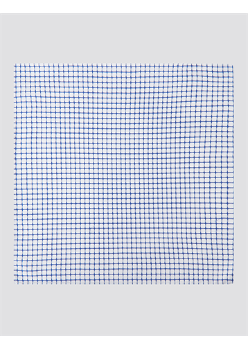 Gibson White And Navy Check Cotton Hankie
