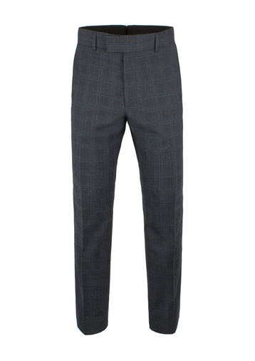 Gibson Charcoal Check Wool Blend Suit Trouser