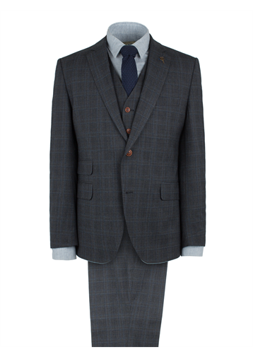 Gibson Charcoal Check Wool Blend Suit Jacket