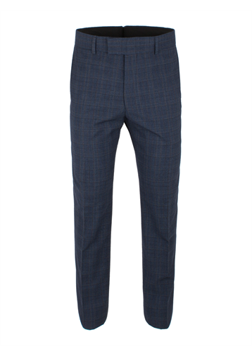 Gibson Blue Check Wool Blend Suit Trouser