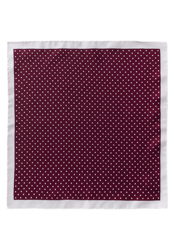Gibson Berry Dot Silk Hankie