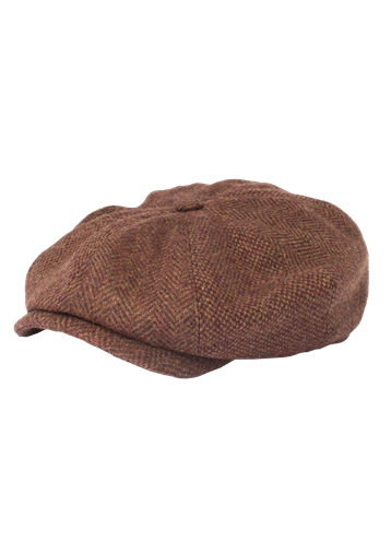 Gibson Rust Contrast Tweed Hat