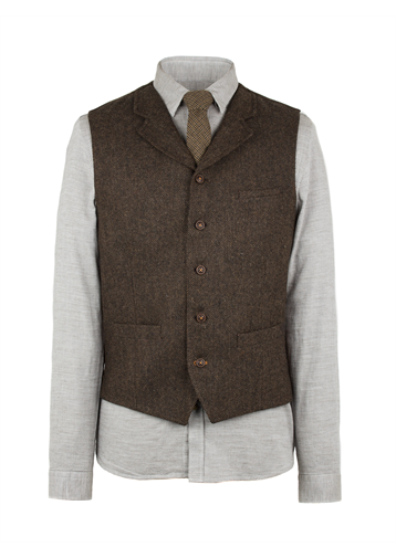 Gibson Brown Plain Vest