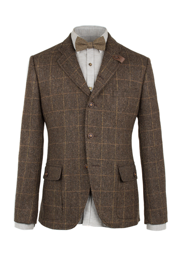 Gibson Brown Herringbone Check Jacket