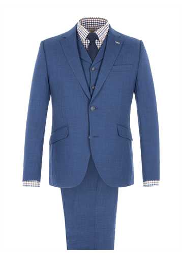 Gibson Cobalt Blue Wool Blend Jacket