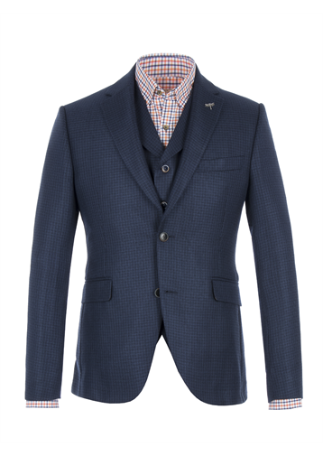 Gibson Blue Basket Weave Jacket