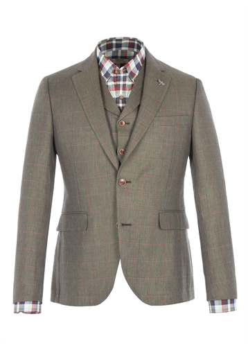 Gibson Green Windowpane Check Jacket