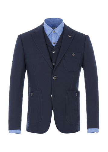 Gibson Navy Knitted Jacket