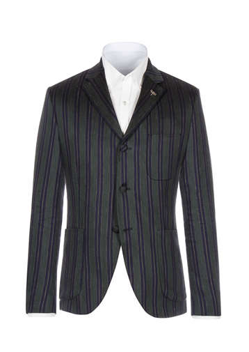 Gibson Green And Navy Stripe Jacket