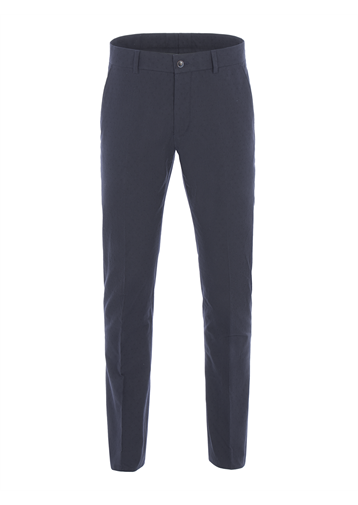 Gibson Navy Spot Jacquard Trousers