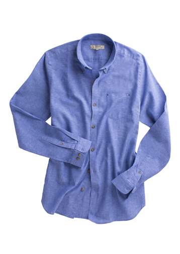 Gibson Dark Blue Linen Blend Shirt