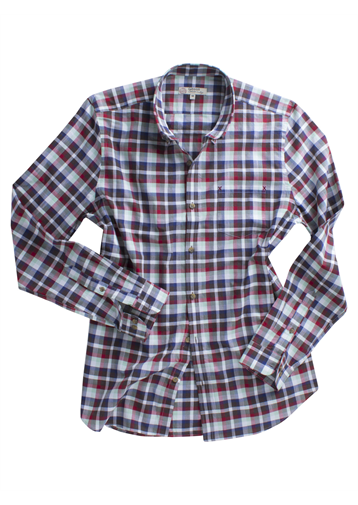 Gibson Brown Green And Navy Check Shirt